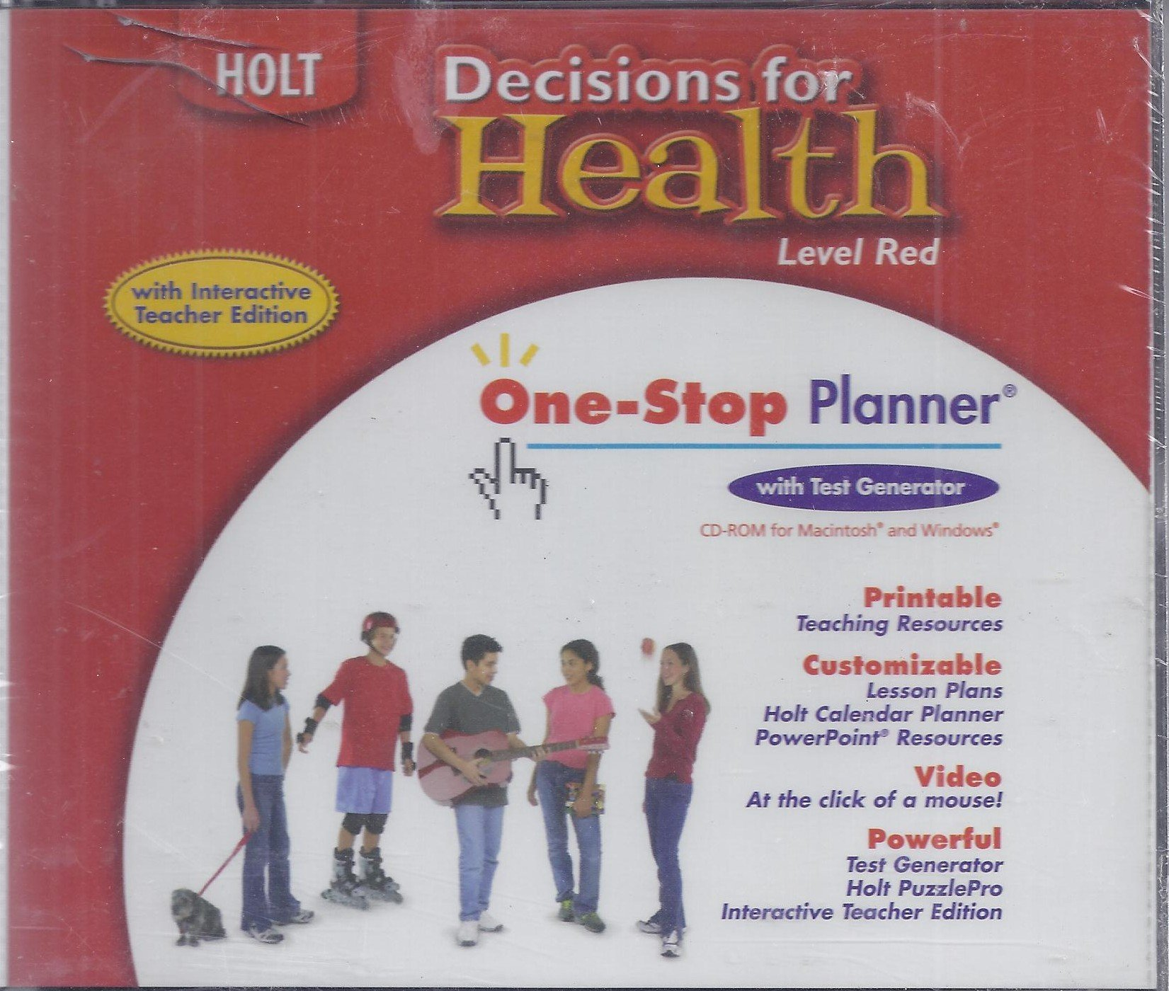 Download Decisions for Health: Level Red (One-Stop Planner with Test Generator) pdf