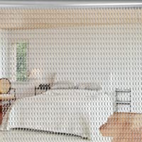 Aluminio Metal Cadena Cortina Cadenas pesticidas cortina – Cortina para ventana/puerta mosquitera 90 x 214,5 cm