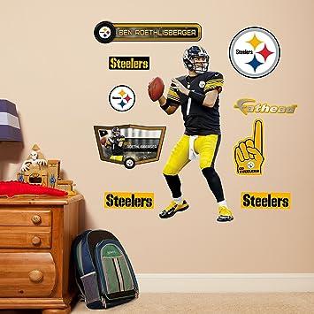 NFL Pittsburgh Steelers Ben Roethlisberger Fathead Wall Decal, Junior Part 69