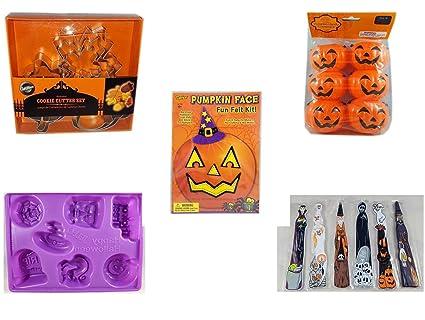 Juego de cortadores de galletas de 8 piezas para Halloween (5 piezas) – Wilton