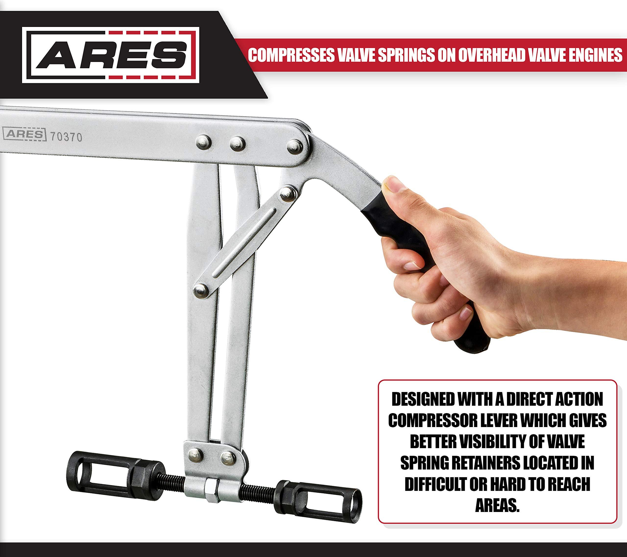ARES 70370   Valve Spring Compressor   Compresses Valve Springs on Overhead Valve Engines   Direct Action Compressor Lever Gives Better Visibility During Valve Spring Compression by ARES (Image #3)
