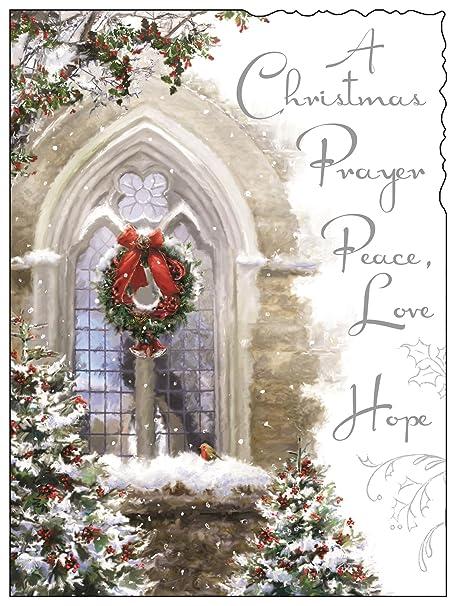 jonny javelin a christmas prayer peace love hope deluxe embossed christmas card
