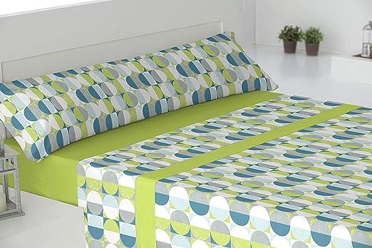 El Barco Deco Sabanas algodón 50% Poliester, Verde, 90x190, 16: Amazon.es: Hogar