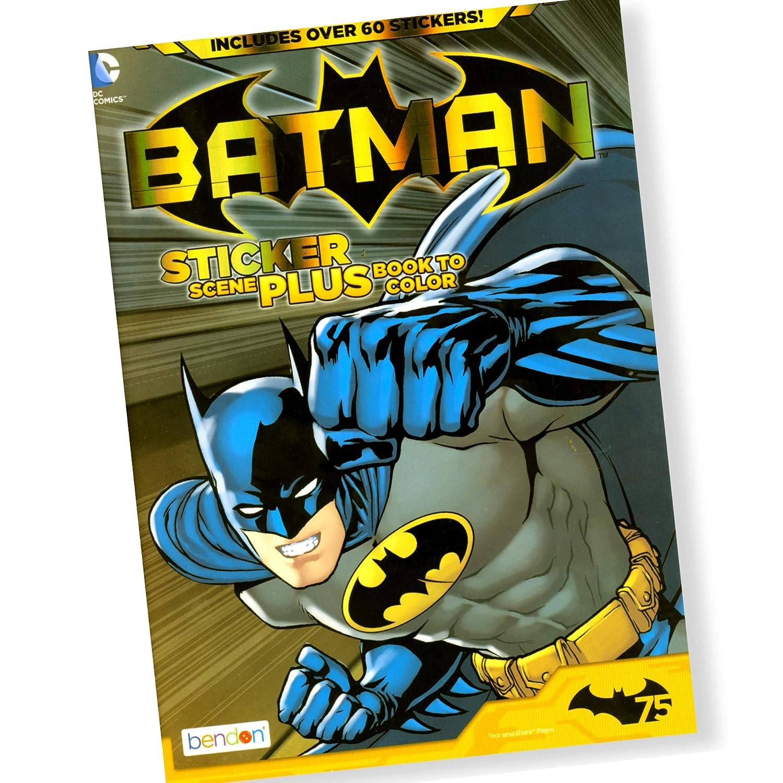 Bendon Publishing DC Comics Batman /& Superman Coloring and Activity Book Super Set Posters and More! 6 Books Stickers