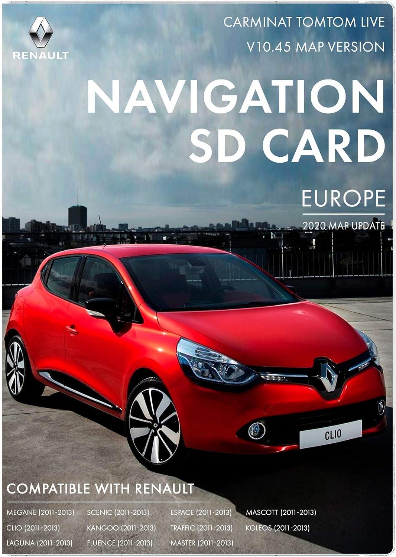 Tarjeta SD Renault Carminat Live Live Navigation | Última actualización 2020 | Mapa de Renault Sat Nav para Europa