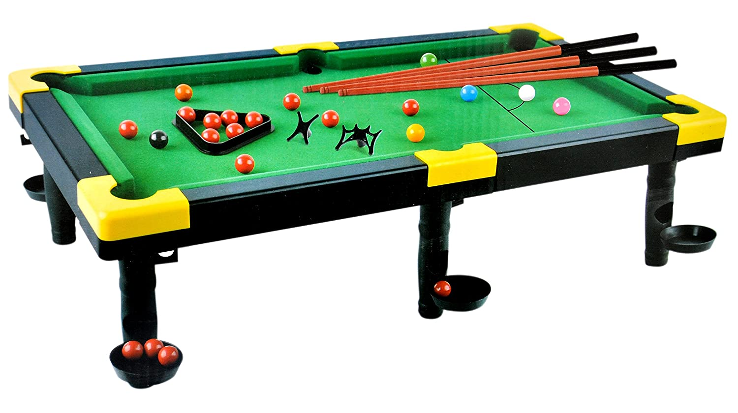 Buy Toyshine Portable Snooker Pool Table Toy with 3 Rods
