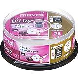 maxell 録画用 BD-RE 25GB 2倍速対応 プリンタブル ホワイト ひろびろ超美白レーベル (25枚ス BE25VFWPA.25SP