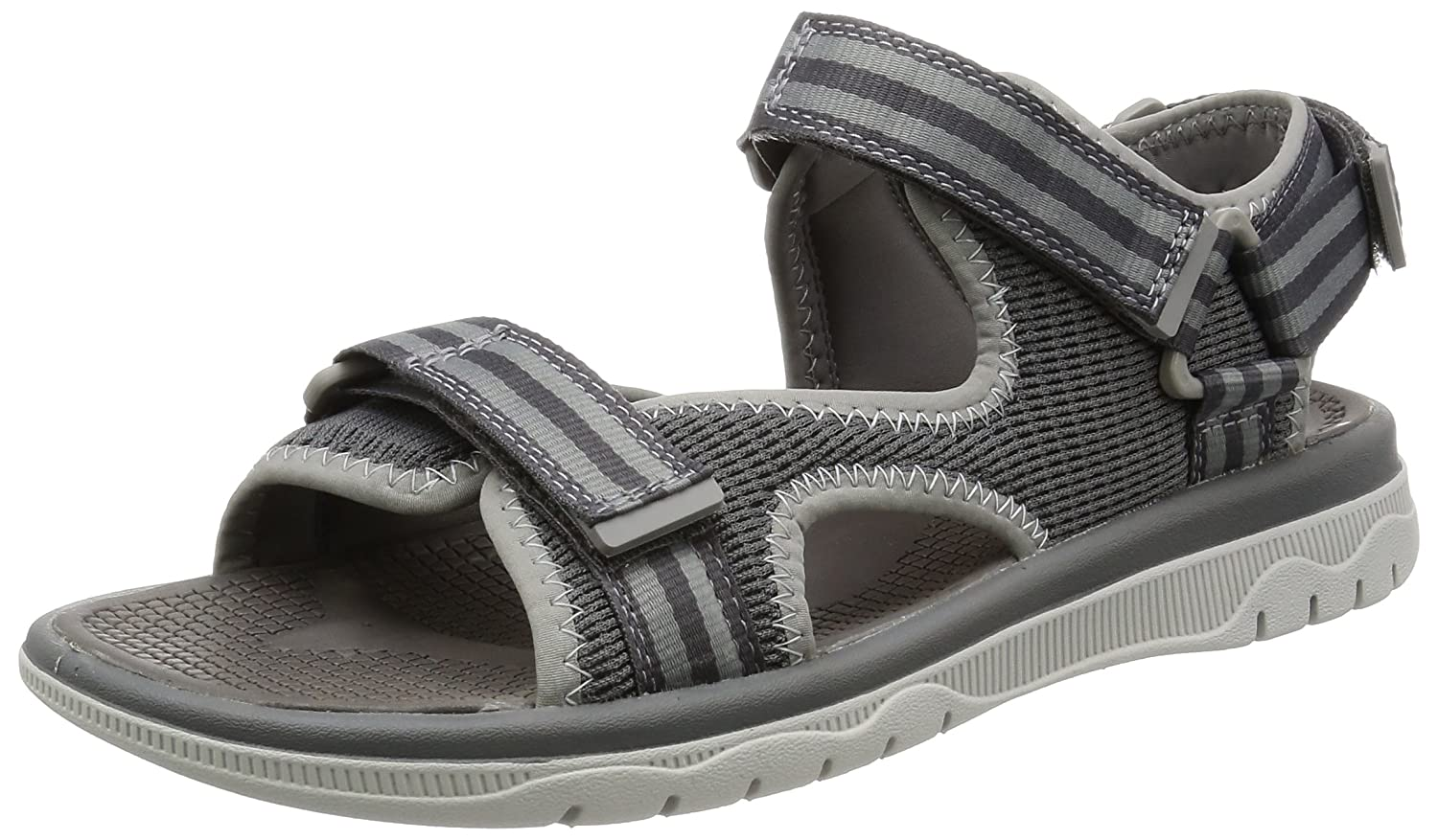 56bd0b1c35e0 Clarks Men s Balta Sky Open Toe Sandals Grey (Grey Synthetic) 9 UK  Buy  Online at Low Prices in India - Amazon.in