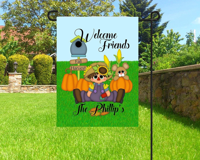 Fhdang Decor Bandera de otoño Personalizada, Bandera de jardín, espantapájaros Banderas de jardín, Linda Bandera de otoño, 12 x 18 Pulgadas: Amazon.es: Jardín