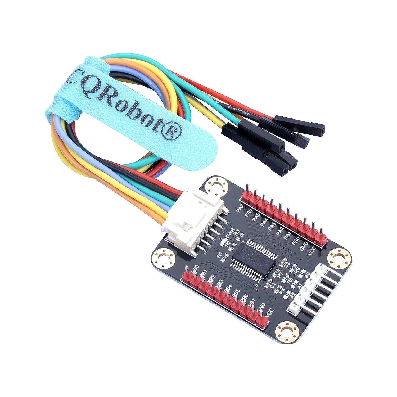 Cqrobot Ocean Mcp23017 E A Erweiterungskarte Kompatibel Mit Raspberry Pi Micro Bit Arduino Stm32 Hauptplatine Erweitert 16 E A Pins Bis Zu 8 Erweiterungskarten Können Gleichzeitig Verwendet Werden Gewerbe Industrie