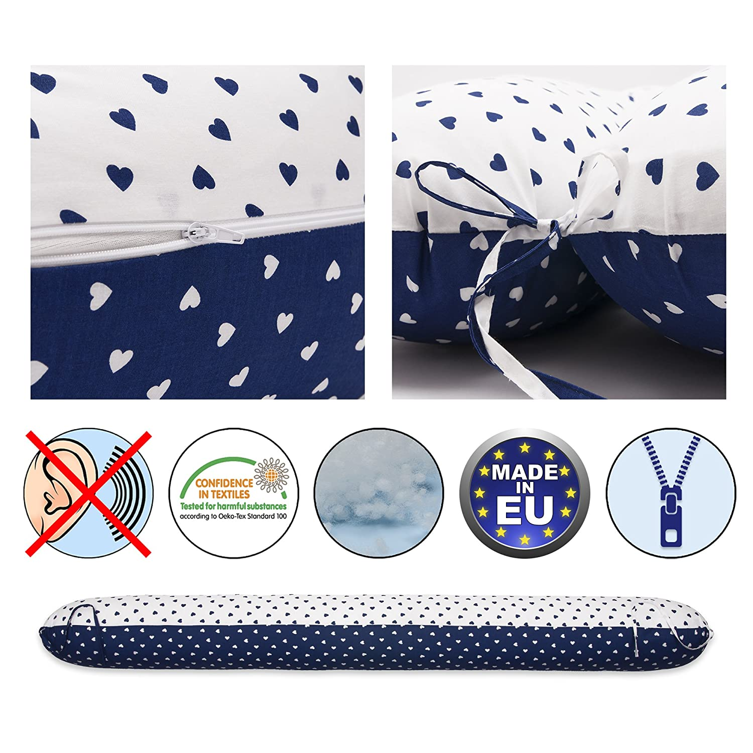 Scamp Nursing Pillow Universal Pregnancy Pillow with Cover Various Designs