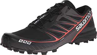 Salomon L37845600, Zapatillas de Trail Running Unisex Adultos, Negro (Black/ Black/Racing Red), 45 1/3 EU: Amazon.es: Zapatos y complementos