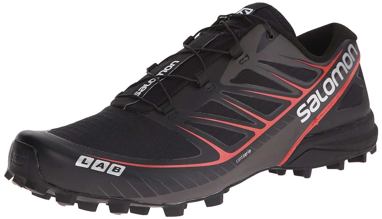 Salomon L37845600, Zapatillas de Senderismo Unisex Adulto 39 1/3 EU Negro (Black / Black / Racing Red)