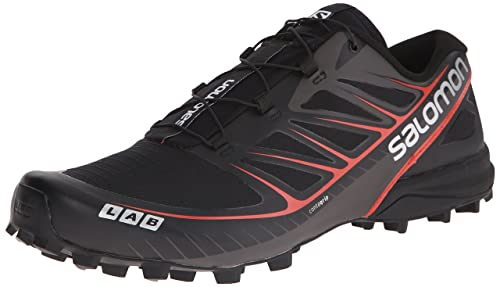 Salomon L39195900, Zapatillas de Senderismo Unisex Adulto, Negro (Black/Racing Red/White), 46 EU