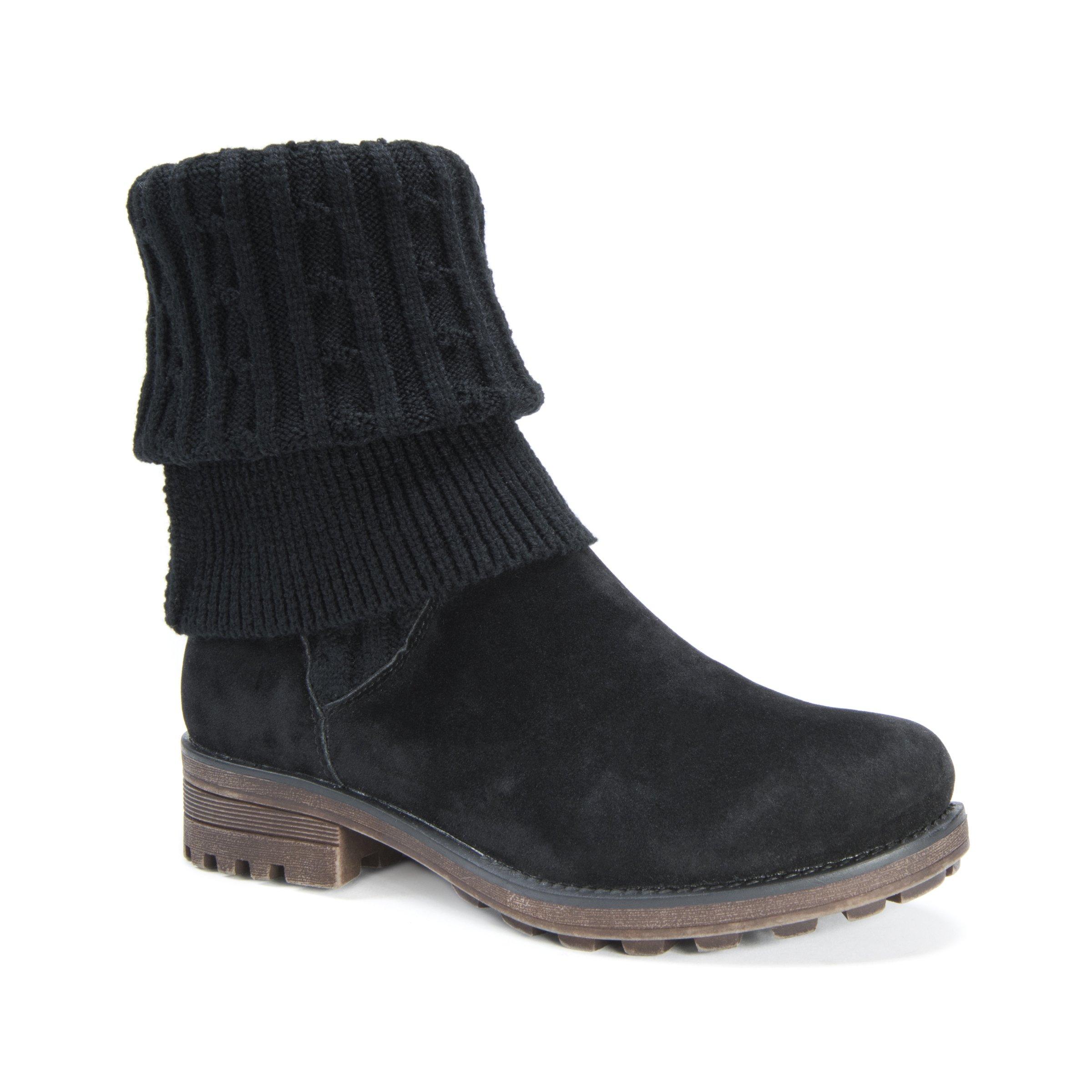 MUK LUKS Women's Kelby Boots Fashion, Black, 10 Medium US