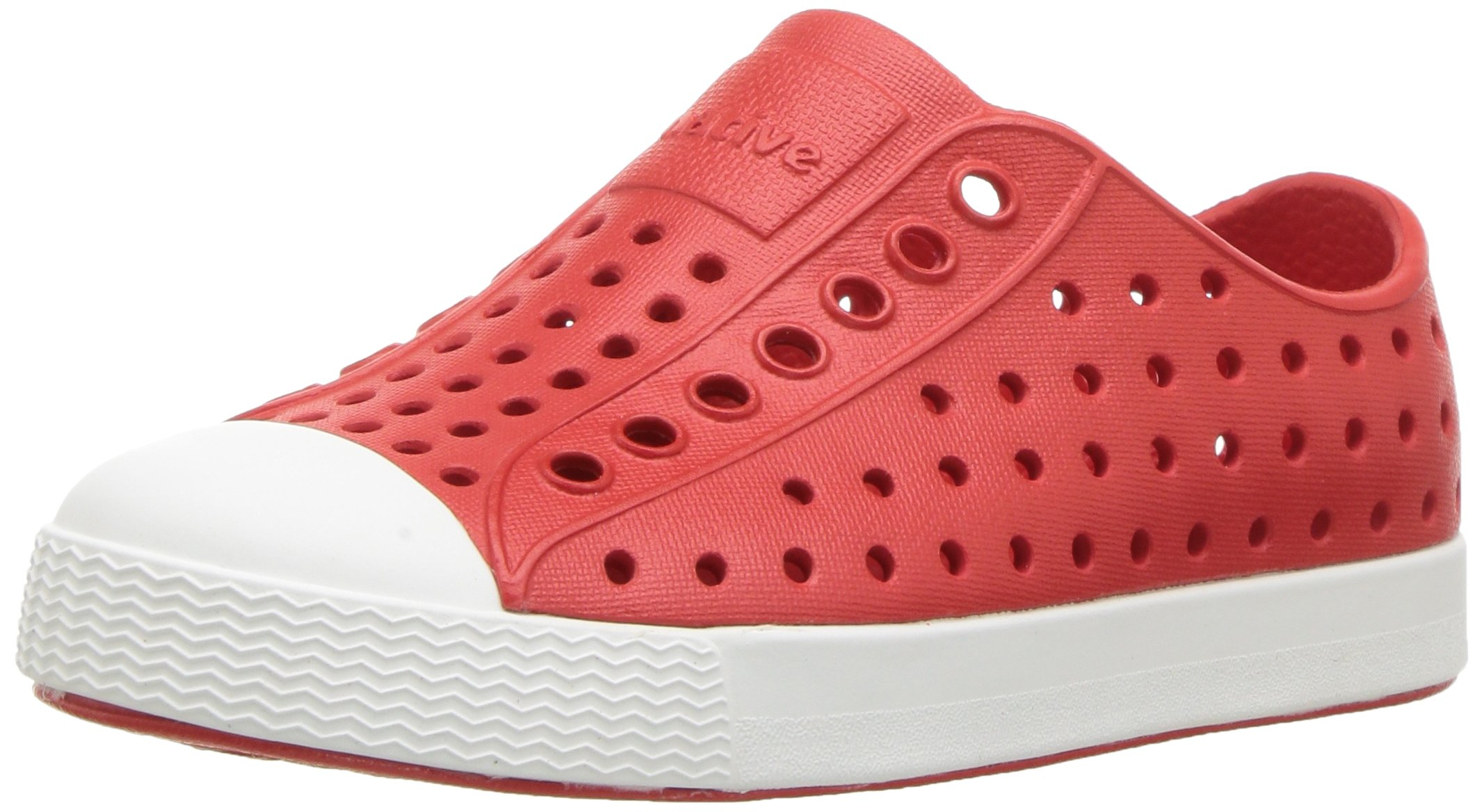 native Kids Jefferson Water Proof Shoes Torch Red Shell White 10