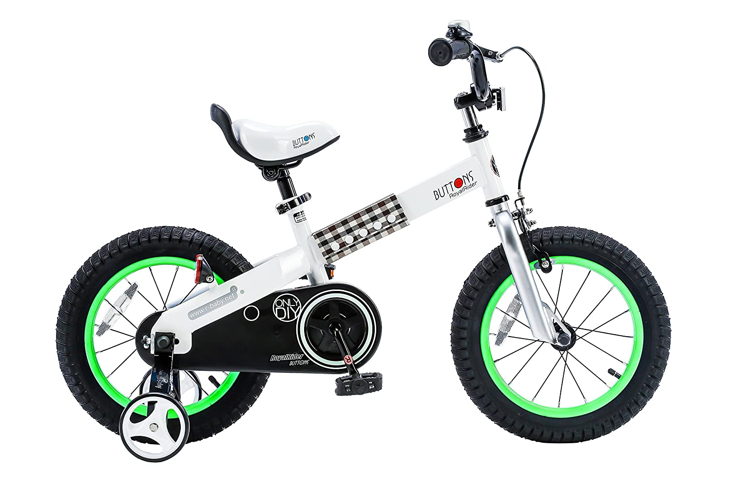 RoyalBaby CubeTube Unisex bike with training wheels