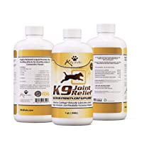 K9 Joint Relief: Glucosamine for Dogs, Liquid Joint Supplement with Chondroitin and MSM, Pain Relief for Arthritis, Hip Dysplasia, Aging, Etc., 32 Ounce