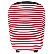 Baby Car Seat Cover Canopy and Nursing Cover Multi-Use Stretchy 5 in 1 Gift The Crimson  by Copper Pearl
