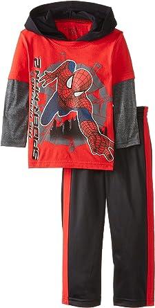 Hemopos Toddler Boys Suit 2-Piece Suit Pants 2-4 Years Long Sleeve Spider-Man Hoodie