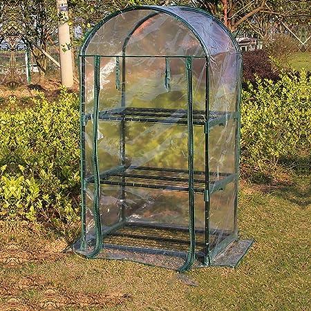 ZCCWS Jardín Invernadero Aislamiento Casa de Flores Cobertizo cálido Plantas suculentas Simples Invernadero pequeño y cálido Familia de cobertizo de Flores Brote de plantación (Color : B): Amazon.es: Hogar