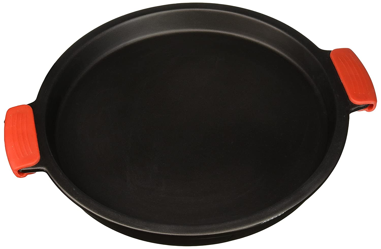 """SuperStone / 13"""" Deep-Dish Non-Stick Pizza Stone with Easy-Grip Silicone Handles"""