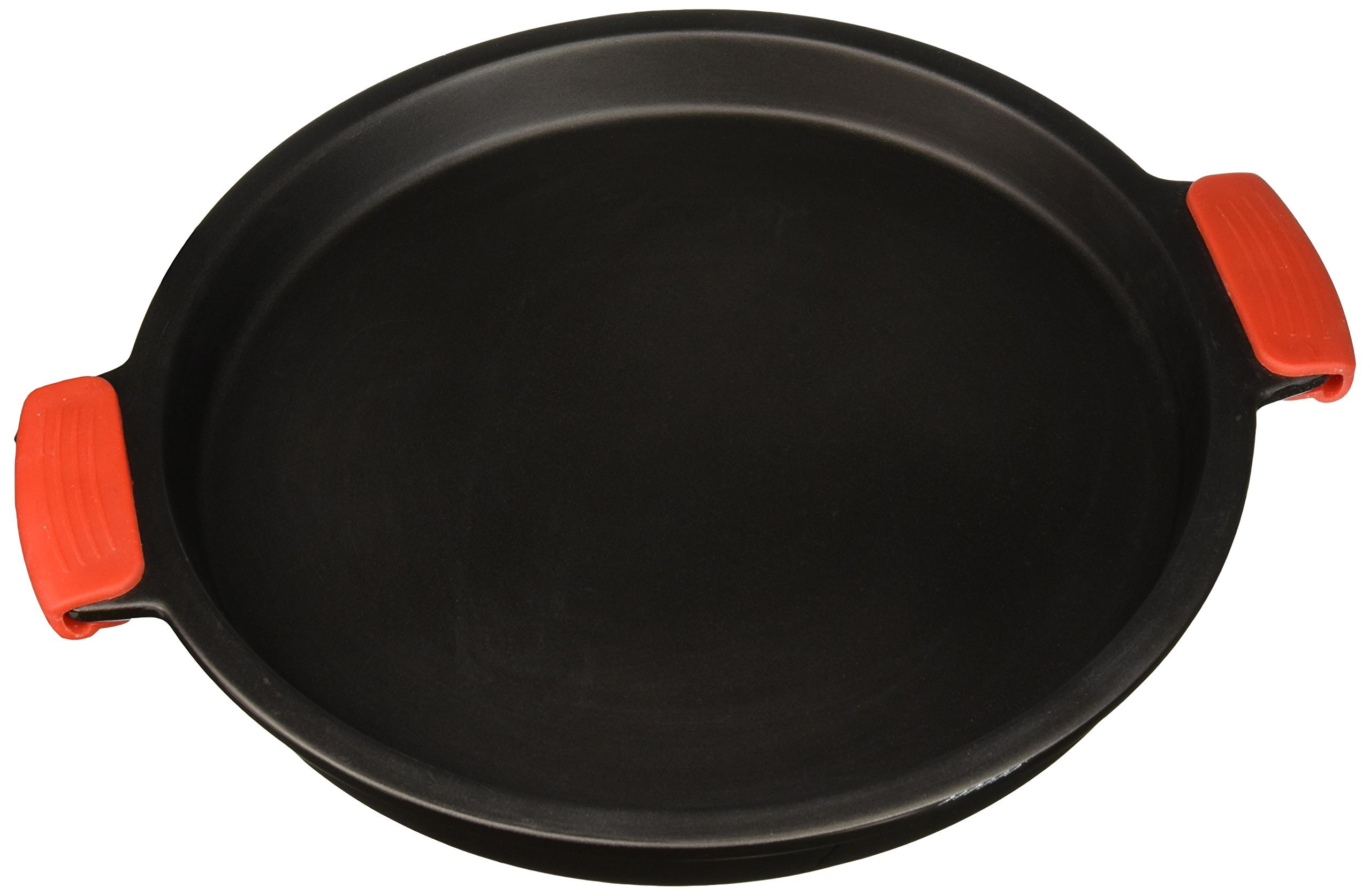 SuperStone / 13'' Deep-Dish Non-Stick Pizza Stone with Easy-Grip Silicone Handles by Sassafras