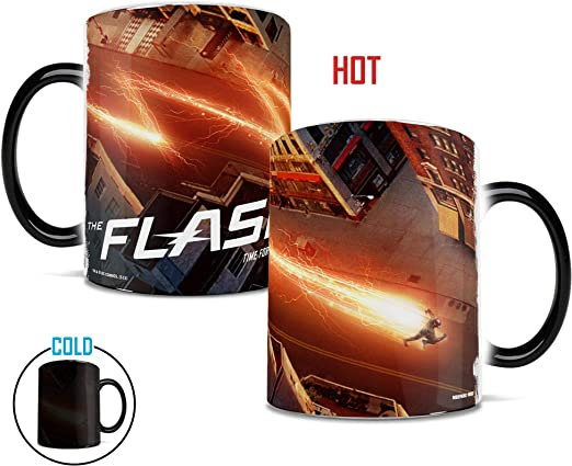 MMUG166 Morphing Mugs DC Comics The Flash A Time for a Hero Heat Reveal Ceramic Coffee Mug 11 Ounces Trend Setters Ltd