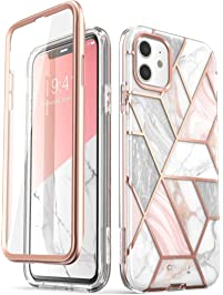 i-Blason Cosmo Series Case for iPhone 11 , Slim Full-Body Stylish Protective Case with Built-in Screen Protector, Marble...