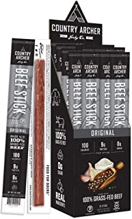 product image for Original Beef Sticks by Country Archer, 100% Grass-Fed, Certified Keto, Paleo, Gluten Free, 24 Count, 1 Ounce (Pack of 24)