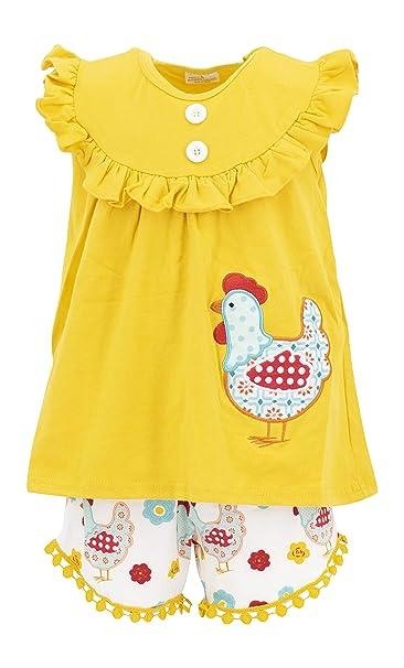 Amazon.com: Único bebé niñas gallo túnica de verano traje ...
