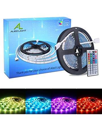 ALED LIGHT Tiras LED 5050 RGB 5m de Longitud 150 LED Multicolor Control Remoto de 44