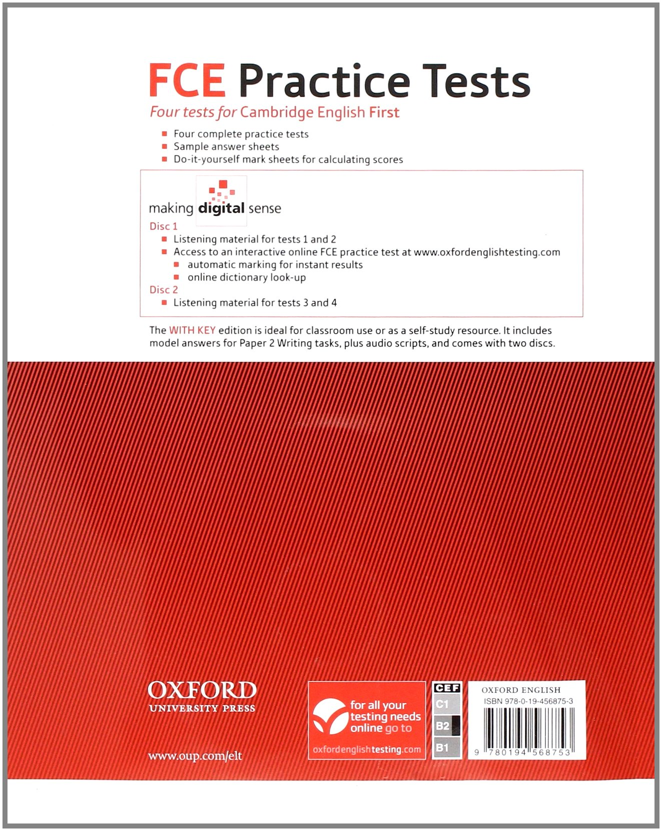 Fce practice tests practice tests with key and audio cds pack fce practice tests practice tests with key and audio cds pack practice tests for the emcambridge english first fceem exam amazon mark yelopaper Image collections