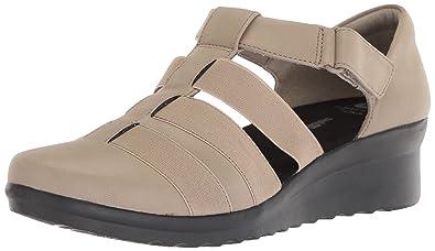 0faa50f2f58 CLARKS Women s Caddell Shine Sandal Sand Synthetic Nubuck 5 Medium US