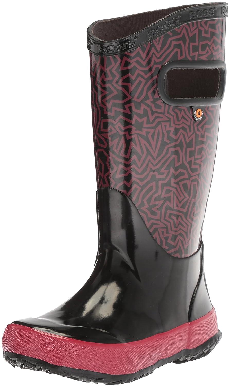 Bogs Kids Rubber Waterproof Rain Boot Boys Girls, Kaleidoscope Print/Black/Multi, 10 M US Toddler Rainboot - K