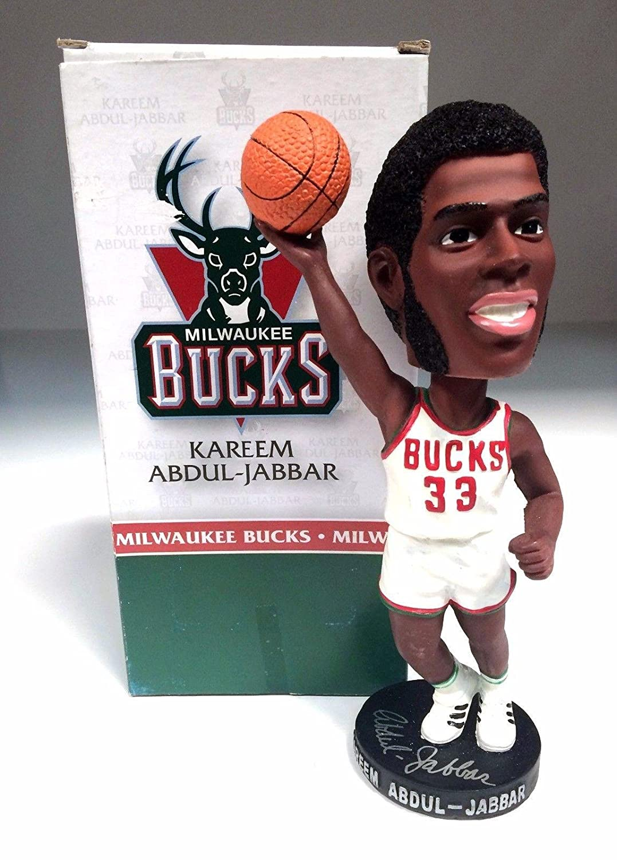 Kareem Abdul Jabbar Signed NBA Milwaukee Bucks Bobblehead BAS I76234