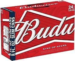 Budweiser 5.0% ABV, 12 oz cans, 24 pk