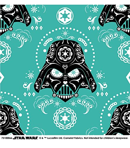STAR WARS ~ Darth Vader ~ Sugar Skull ~ Fabric By The Yard 100% Cotton