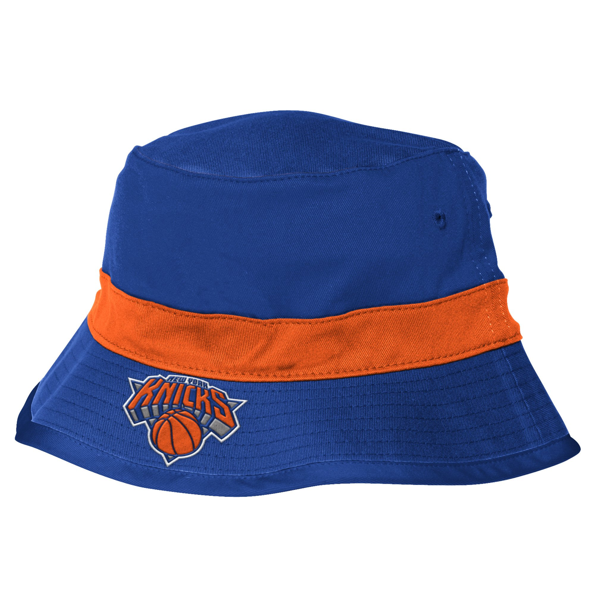 adidas NBA New York Knicks Men's Team Nation Bucket Hat, Blue, Large/X-Large