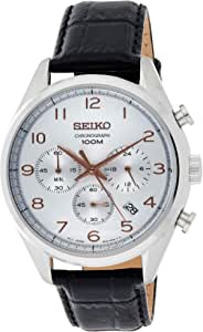 Seiko Men's Dial Leather Band Watch - SSB229P1