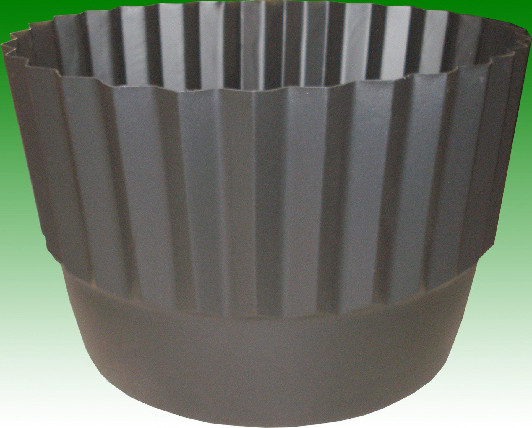 """Set of 2 Henta Flex-O-Liner Whiskey Barrel Planter Liner (Black, PE Plastic, 26"""" D x 14.5"""" H) by Henta"""