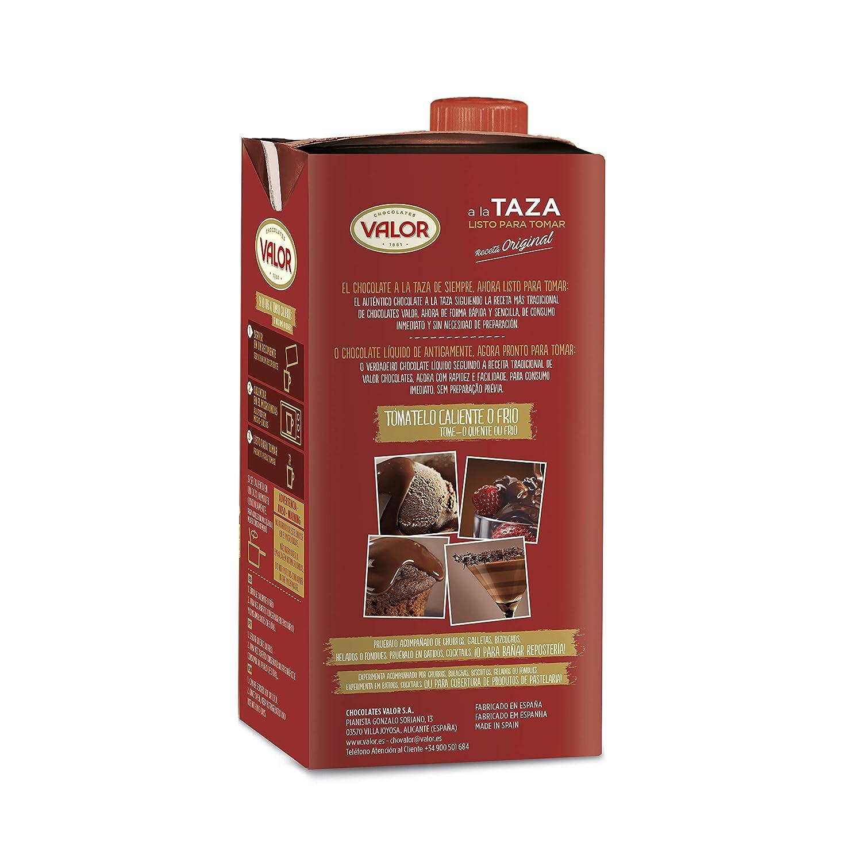 Chocolates Valor - A la Taza Listo para tomar - 1 L - [Pack de 3]: Amazon.es: Alimentación y bebidas