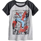 Jumping Beans Toddler Boys 2T-5T Marvel Spider-Man Crash Raglan Graphic Tee