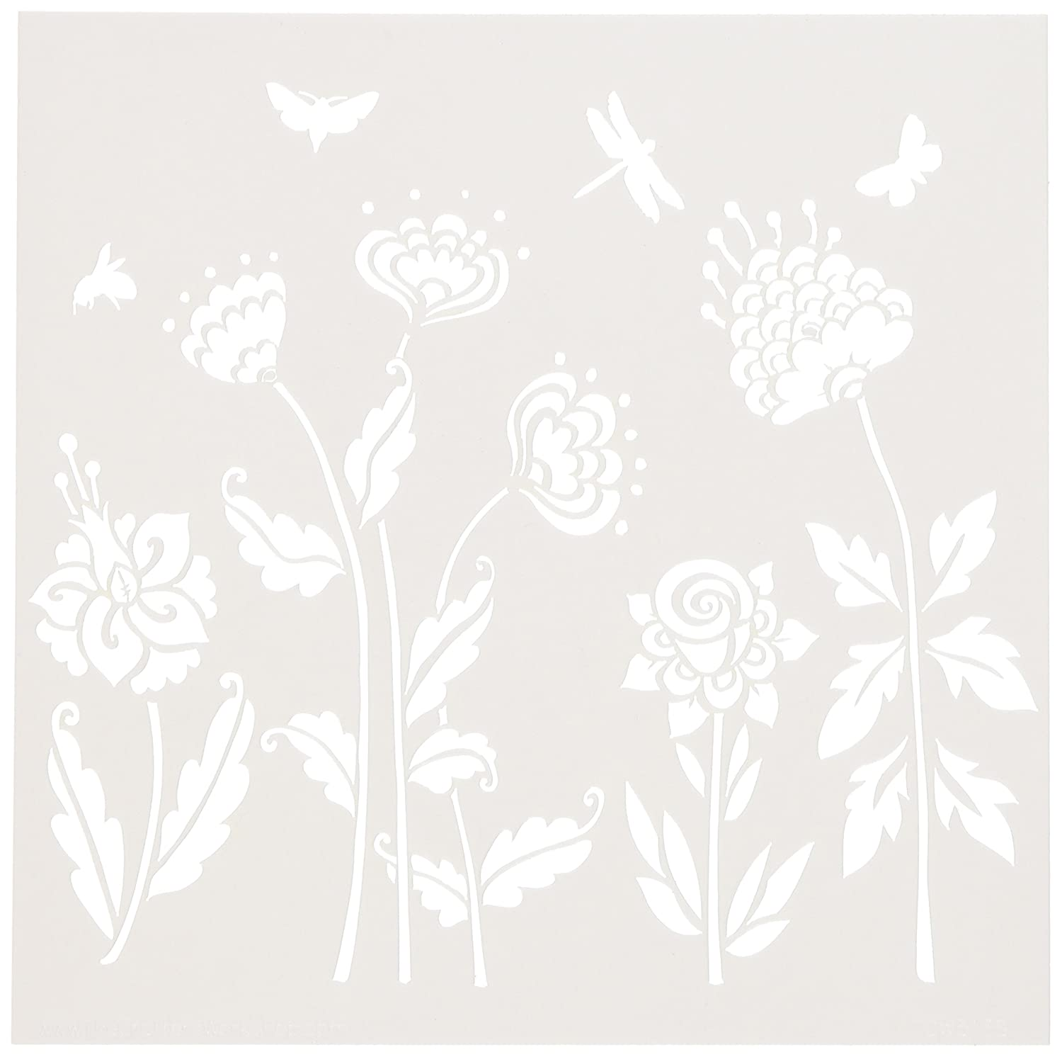 Crafters Workshop Bible Journaling Stencil-Flying Garden (6 X 6) Luscombe TCW6X6-513 NON-CLASSIFIABLE
