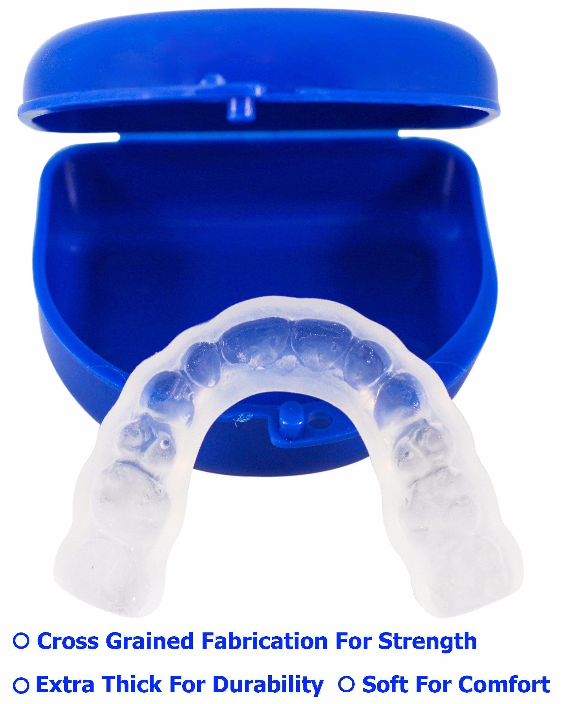 TUFF BRUX Bruxism Custom Made Teeth Grinding Guard - Extra Thick Soft Custom Teeth Night Mouth Guard For Teeth Grinding and Clenching - Bite Splint Teeth Guard by Teeth Armor