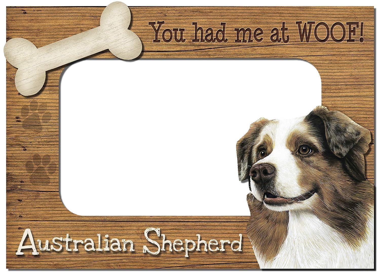 Australian Shepherd Sign I Love My 5x10