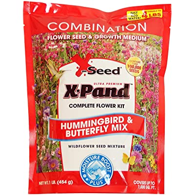X-Seed X-Pand Hummingbird and Butterfly Combination Seed Mix, 1-Pound : Flowering Plants : Garden & Outdoor
