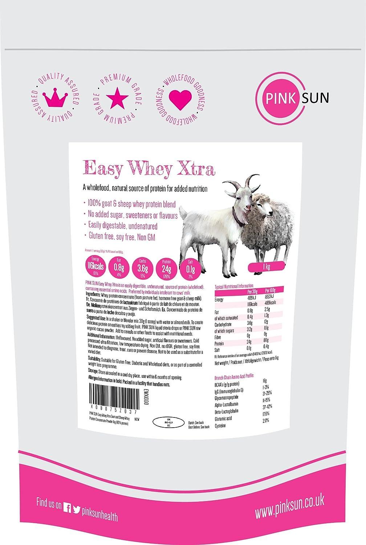 PINK SUN Proteína de Suero de Cabra y Oveja 1kg sin Hormonas ...