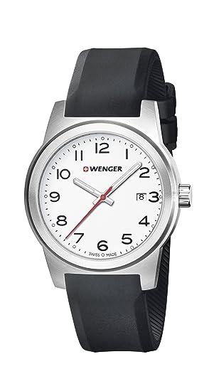 Wenger Reloj Analogico para Unisex de Cuarzo con Correa en Silicona 01.0441.148: Amazon.es: Relojes