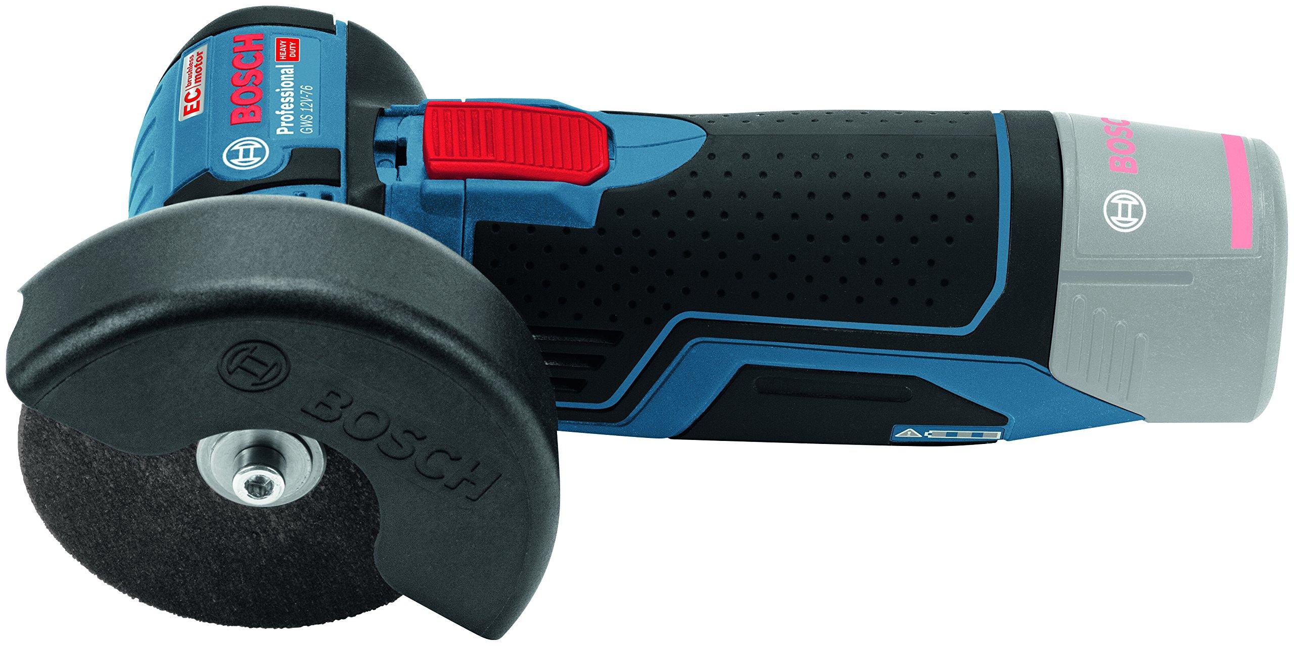 Bosch Professional GWS 12V-76 Smerigliatrice Angolare senza Batteria e Caricabatterie, 12 V, 0.7 kg, M 5, Blu product image